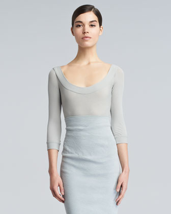 Lightweight Scoop-Neck Sweater