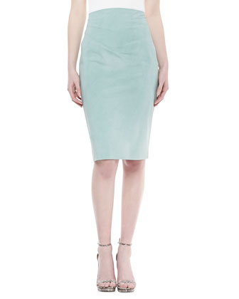 Raised-Waist Skirt, Jade