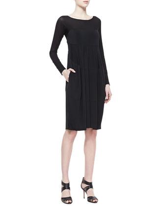 Long-Sleeve Sheer Top Dress