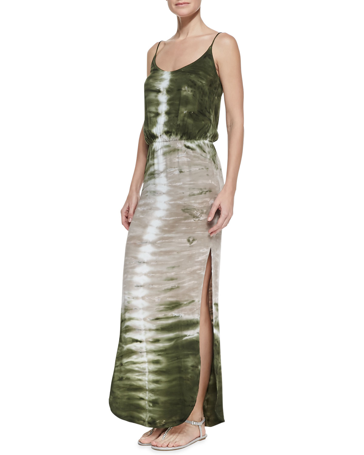 Womens Holland Spaghetti Strap Maxi Dress   Young Fabulous and Broke   Olive