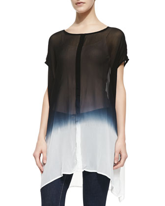 Esther Georgette Ombre Scoop-Neck Tunic