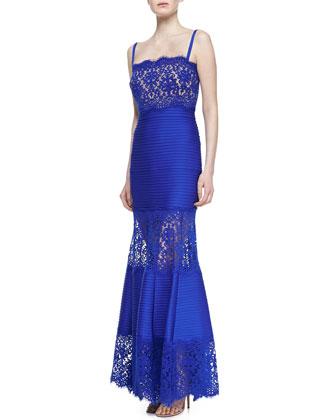 Spaghetti Strap Lace Bodice Gown, Marina