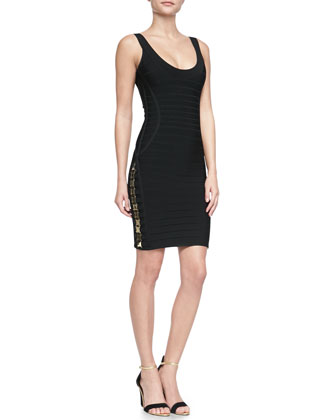 LilyKate Hardware Bandage Dress, Black