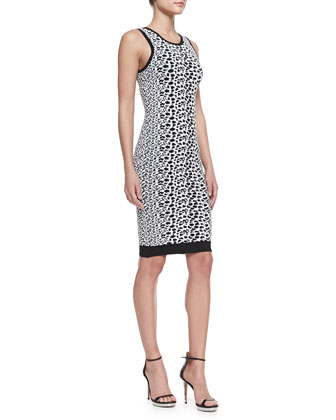 Animal-Print Jacquard Knit Dress