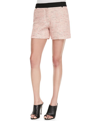 Bel Air Tweed Shorts, Pink