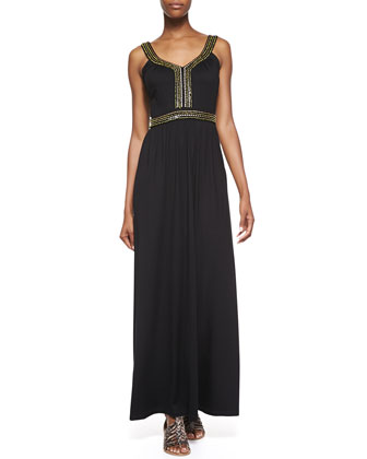 Embellished Haute Jersey Maxi Dress