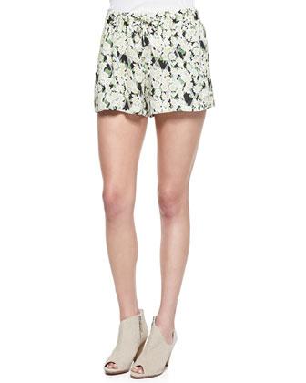 Tropical Printed/Check Shorts