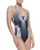 Torqued Walls One-Piece Swimsuit