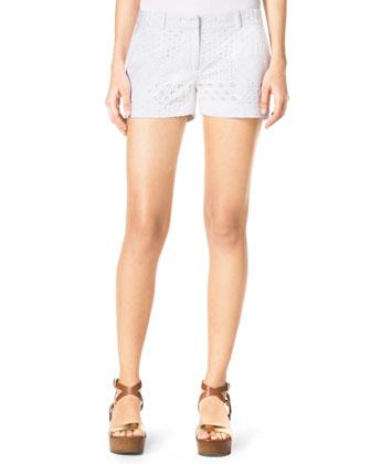 Eyelet Mini Shorts
