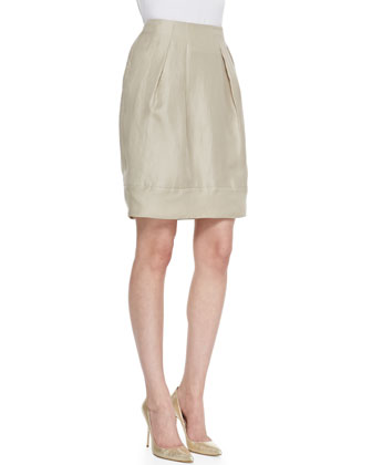 Jackie Pleated Silk Skirt