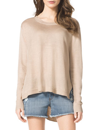 High-Low Knit Sweater