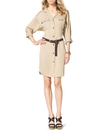 Long-Sleeve Shirtdress