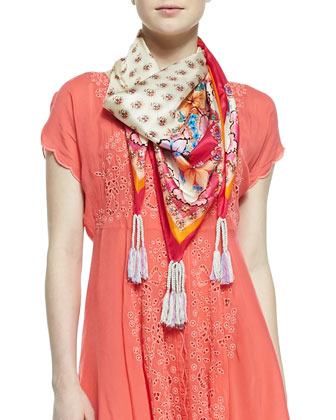 Ross Printed Silk Georgette Scarf