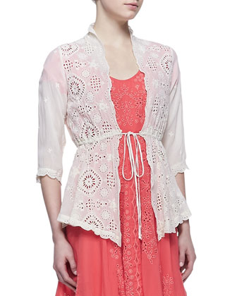 Vivienne Lacey Cover Up Jacket, Cloud Cream