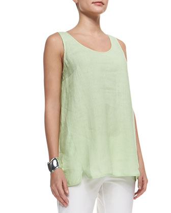 Handkerchief Linen Long Tank Top