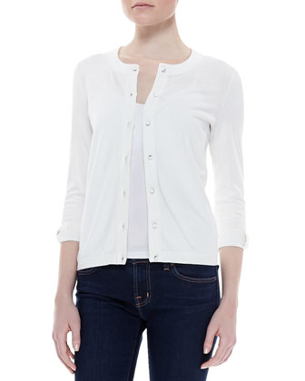 Somerset button-down cardigan, cream