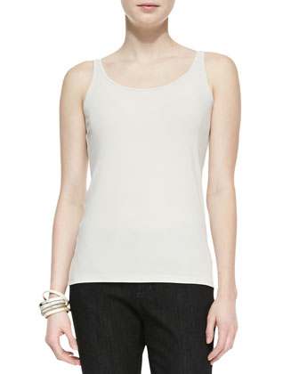Polished Ramie A-Line Jacket ,Silk Jersey Long Slim Camisole & Organic Soft ...