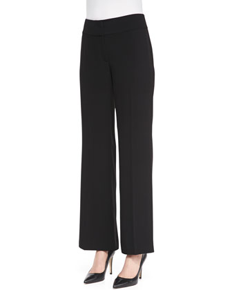 Tropical Suiting Wide-Leg Trousers, Women's