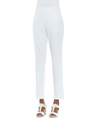 Organic Stretch Slim Zipper-Cuff Trousers