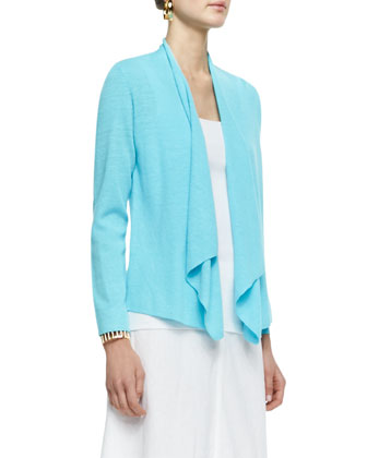 Organic Linen Long-Sleeve Cardigan, Women's