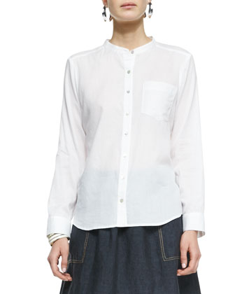 Organic Cotton Mandarin Collar Shirt