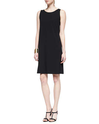 Petite Short-Sleeve Mesh Cardigan & Sleeveless Jersey Shift Dress, Petite