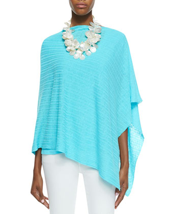 Organic Linen Ribbed Poncho