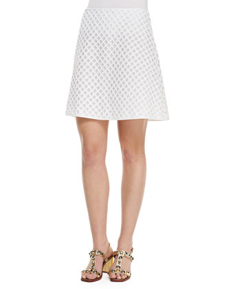 Alaina A-Line Lattice Skirt