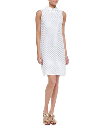 Perla Cotton Dress With Detachable Collar