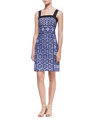 Margaux Lace-Overlay Sleeveless Dress