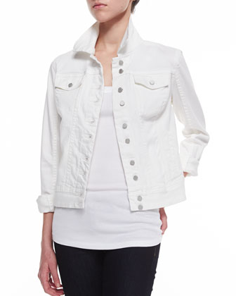 Off White Denim Jacket, Cream