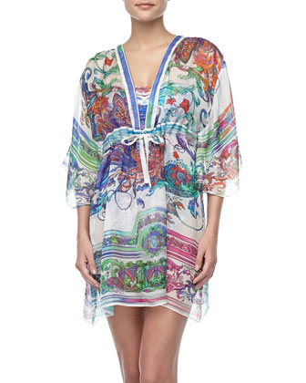 Koh Phanhgan Printed Sheer Coverup