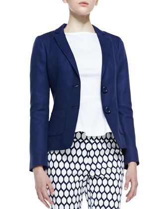 tami two-button blazer, french navy