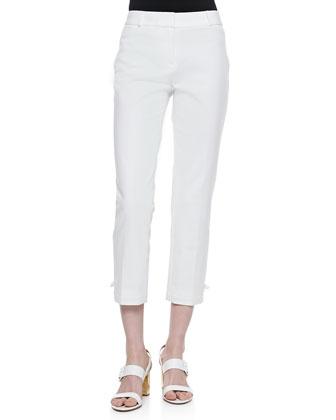 jackie capri pants, fresh white