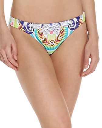 Low-Rise Printed Swim Bottom