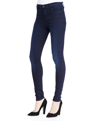 Hilary Striped Oxford Blouse & High-Rise Stretch Stocking Jeans