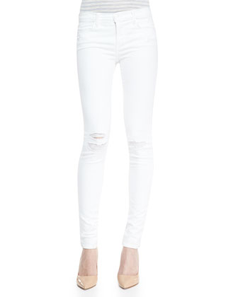 Mid-Rise Super-Skinny Destroyed Jeans