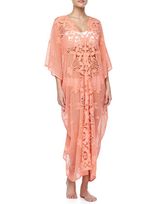 Rachel Scalloped-Lace Coverup