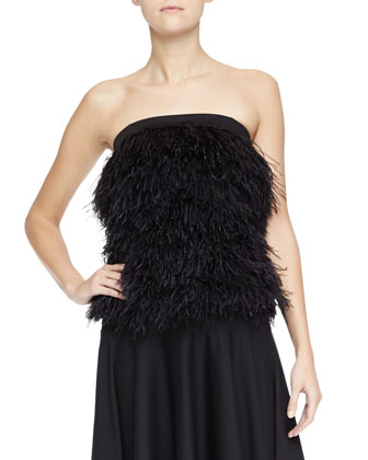Ostrich Feather Top, Black