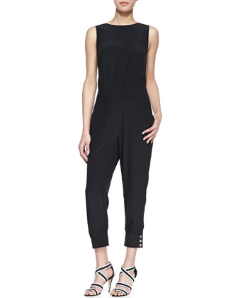 Open-Back Sleeveless Jumpsuit