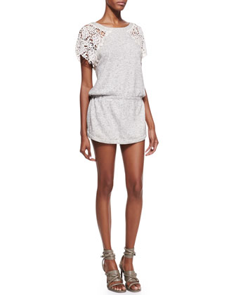 Freja Lace-Sleeve Dress