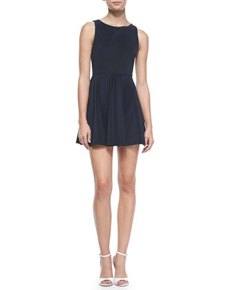 Monah A-Line Sleeveless Dress, Navy