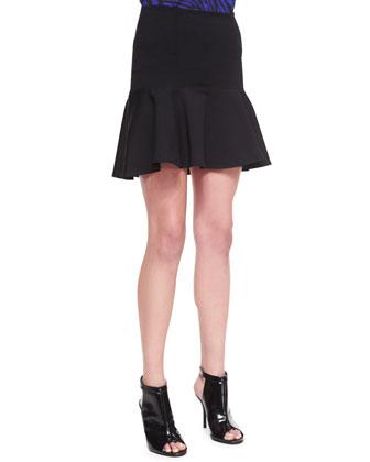 Knit Flounce Skirt