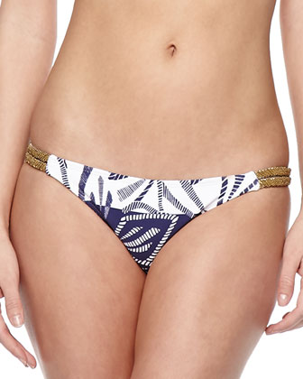 Una Printed Halter Swim Top & Una Printed Embellished Swim Bottom