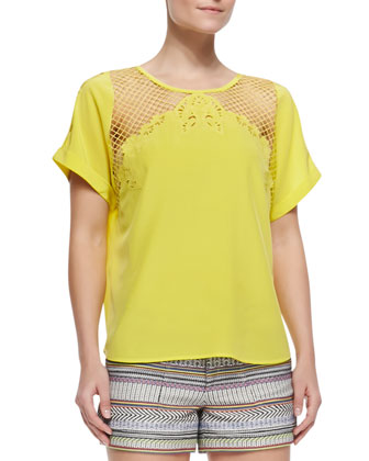 Evita Cutout-Shoulder Top