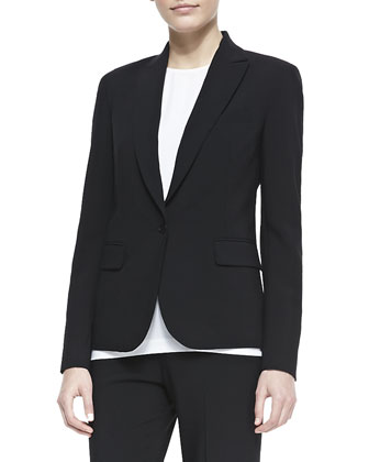 Essential Wool Poplin Jacket