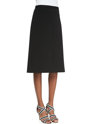 Midi Memory Jersey A-Line Skirt