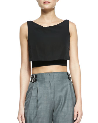 Party Crop Top, Black