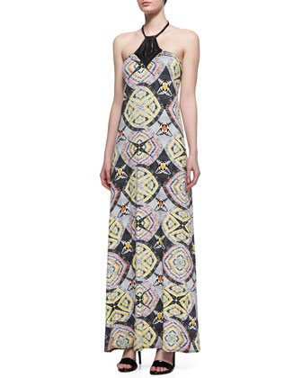 Sodella Printed Jersey Maxi Dress