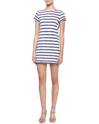 Stefan Striped Short-Sleeve Dress